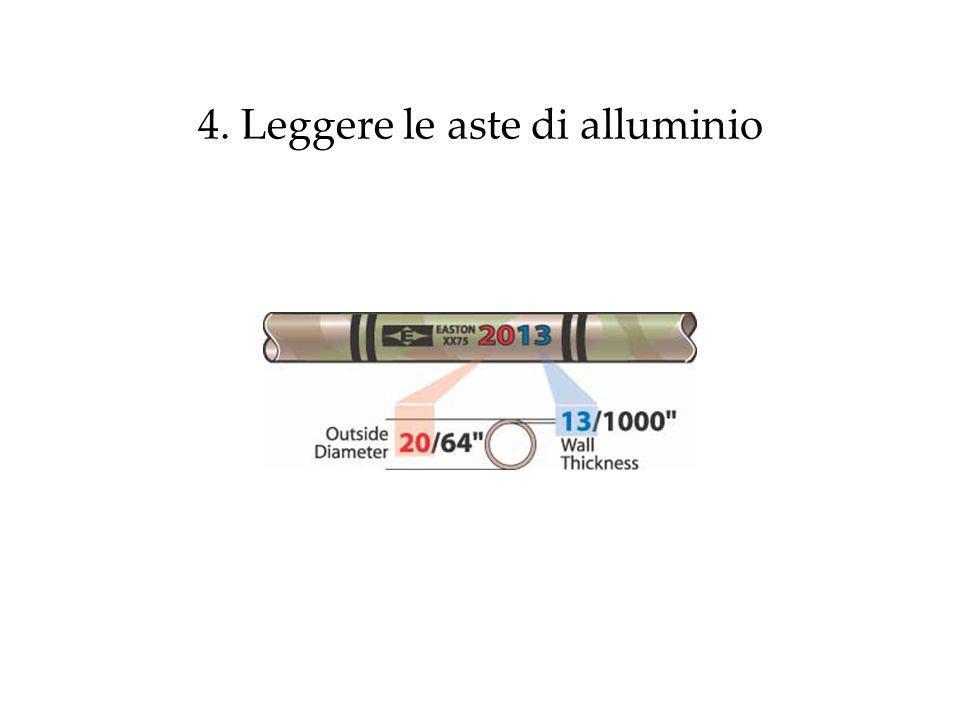 4. Leggere le aste di alluminio