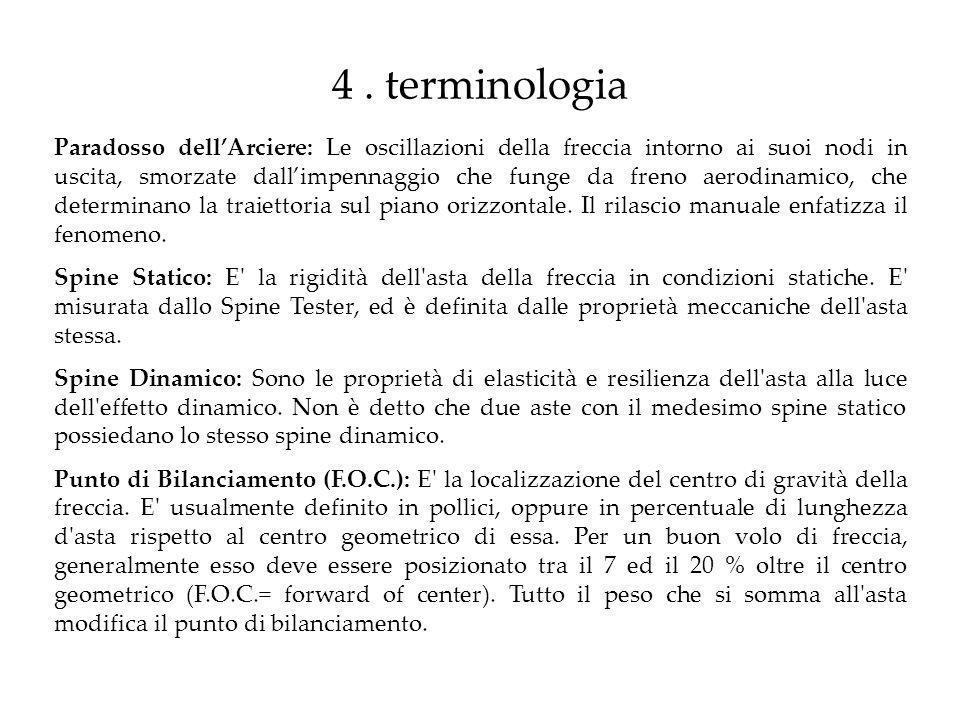 4 . terminologia