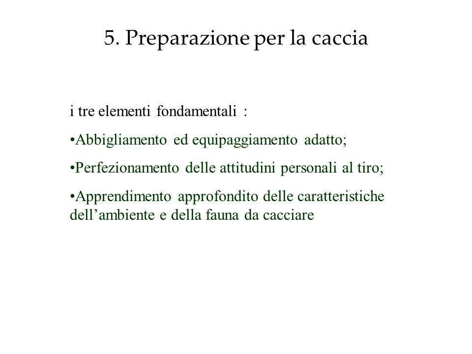 5. Preparazione per la caccia
