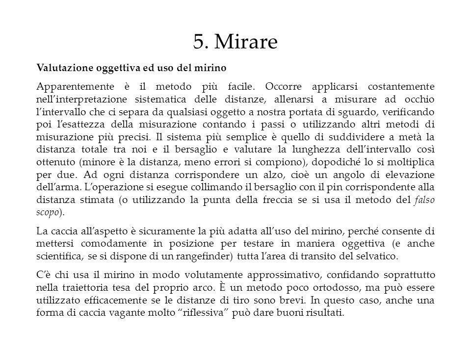 5. Mirare Valutazione oggettiva ed uso del mirino