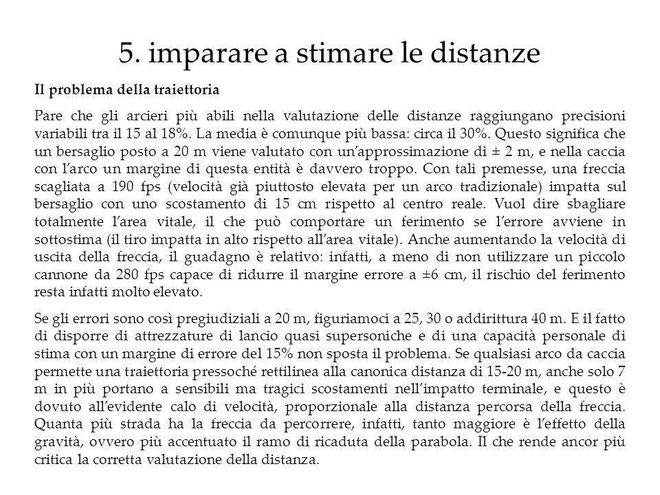 5. imparare a stimare le distanze
