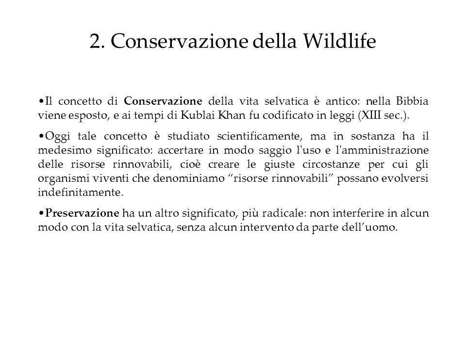 2. Conservazione della Wildlife