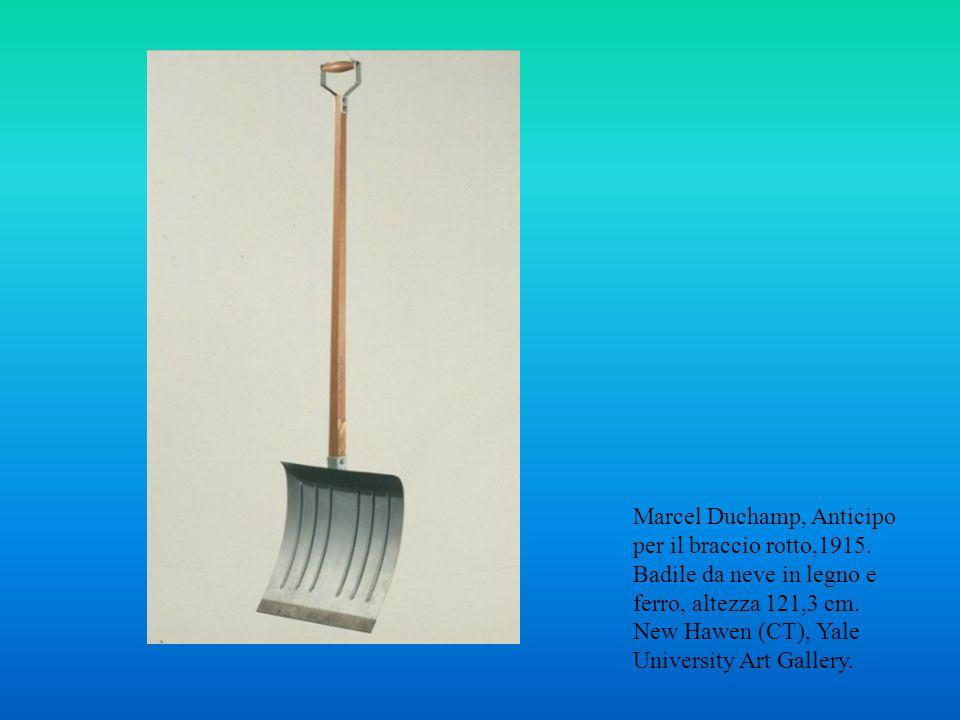 Marcel Duchamp, Anticipo per il braccio rotto,1915