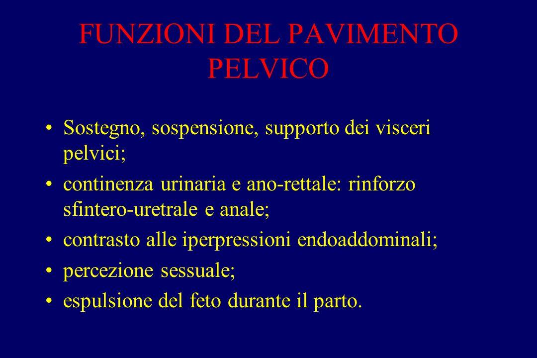 FUNZIONI DEL PAVIMENTO PELVICO