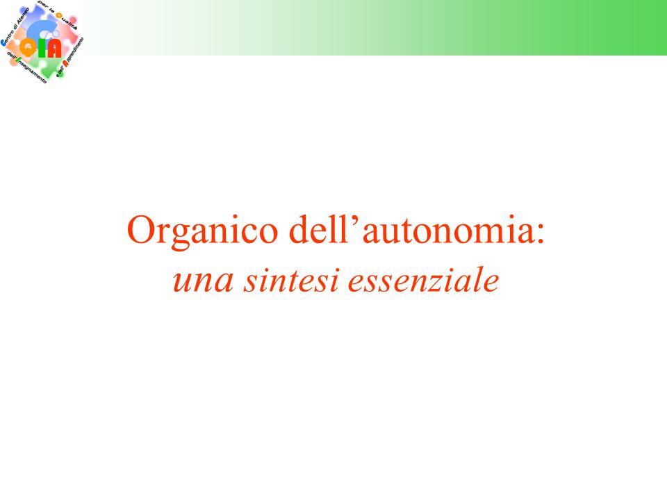 Organico dell'autonomia: una sintesi essenziale