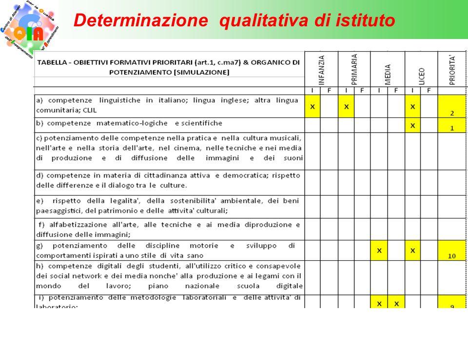 Determinazione qualitativa di istituto