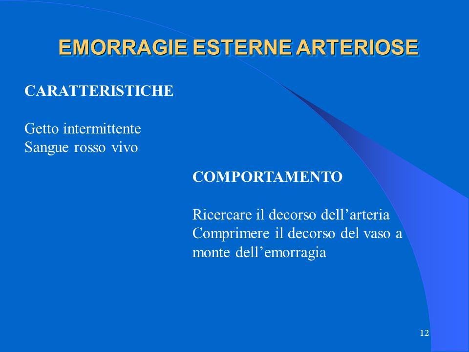 EMORRAGIE ESTERNE ARTERIOSE