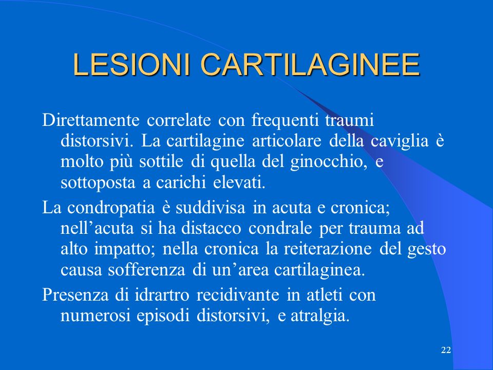 LESIONI CARTILAGINEE