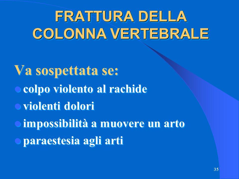 FRATTURA DELLA COLONNA VERTEBRALE