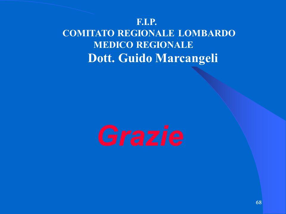 Grazie Dott. Guido Marcangeli F.I.P. COMITATO REGIONALE LOMBARDO
