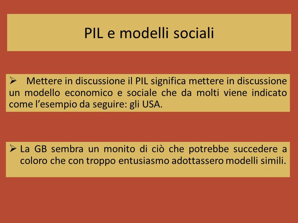 PIL e modelli sociali