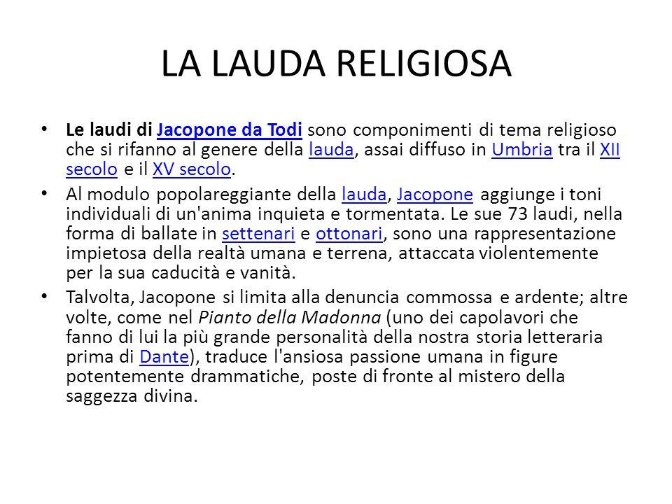 LA LAUDA RELIGIOSA