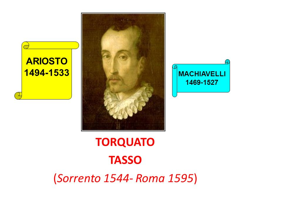 TORQUATO TASSO (Sorrento 1544- Roma 1595)