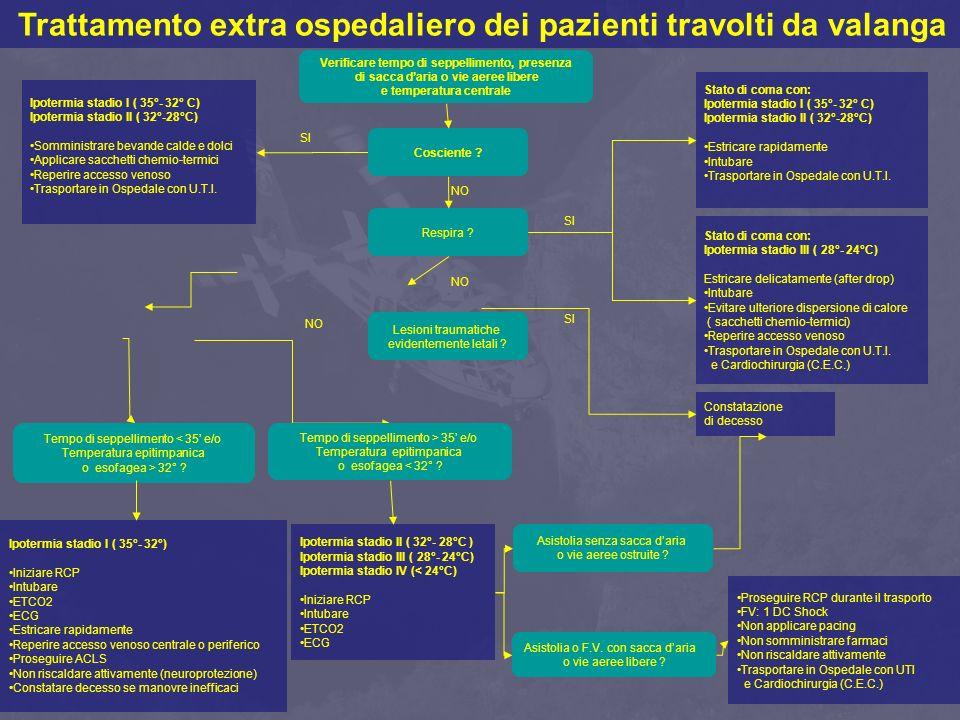 Trattamento extra ospedaliero dei pazienti travolti da valanga