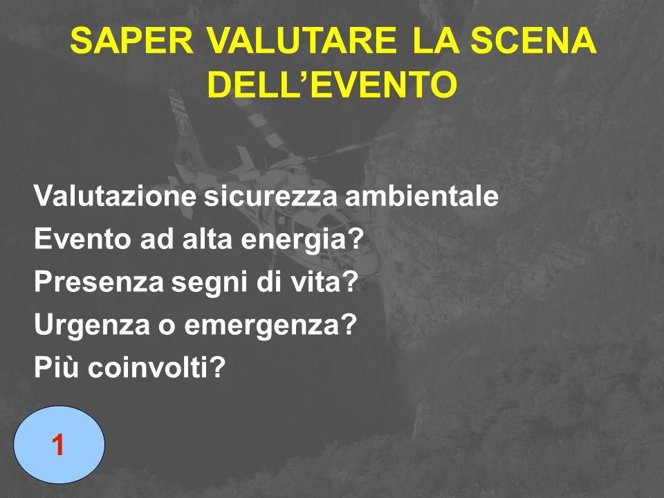 SAPER VALUTARE LA SCENA DELL'EVENTO