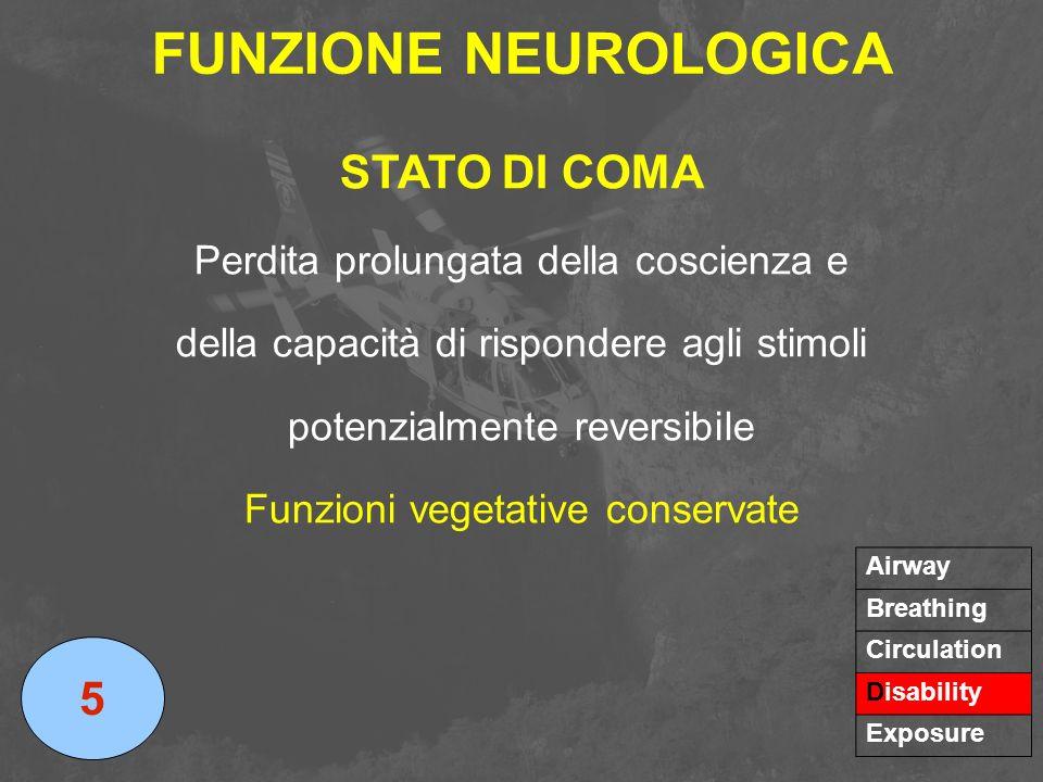 FUNZIONE NEUROLOGICA STATO DI COMA 5