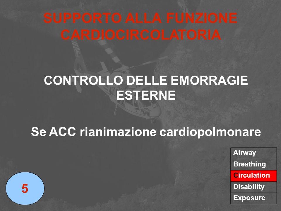 SUPPORTO ALLA FUNZIONE CARDIOCIRCOLATORIA