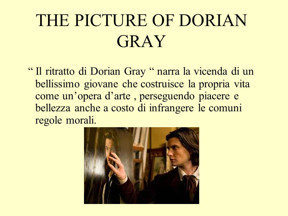 morals and corruption in the story the picture of dorian gray Picture of dorian gray (wilde melodrama about moral corruption and sparkling prose to the picture of dorian gray, his dreamlike story of a young man who.
