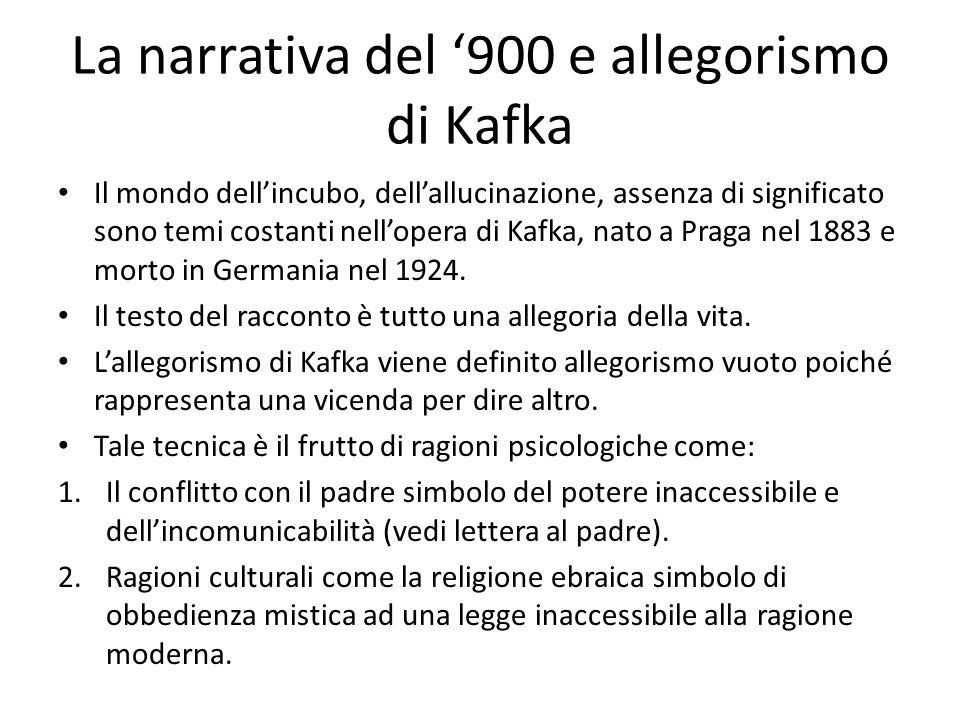 La narrativa del '900 e allegorismo di Kafka