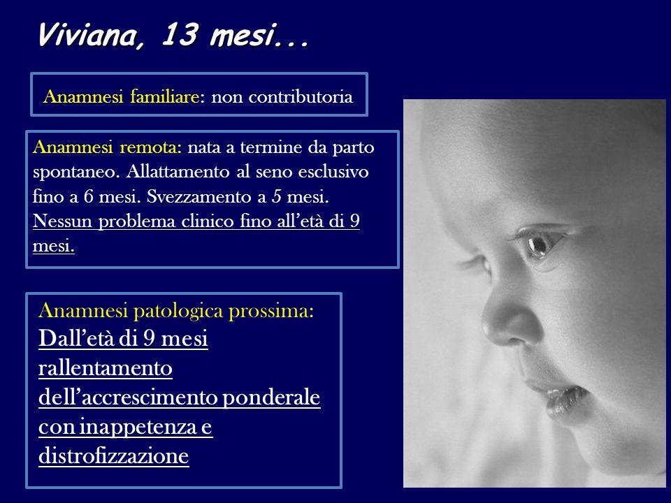 Viviana, 13 mesi... Anamnesi familiare: non contributoria.