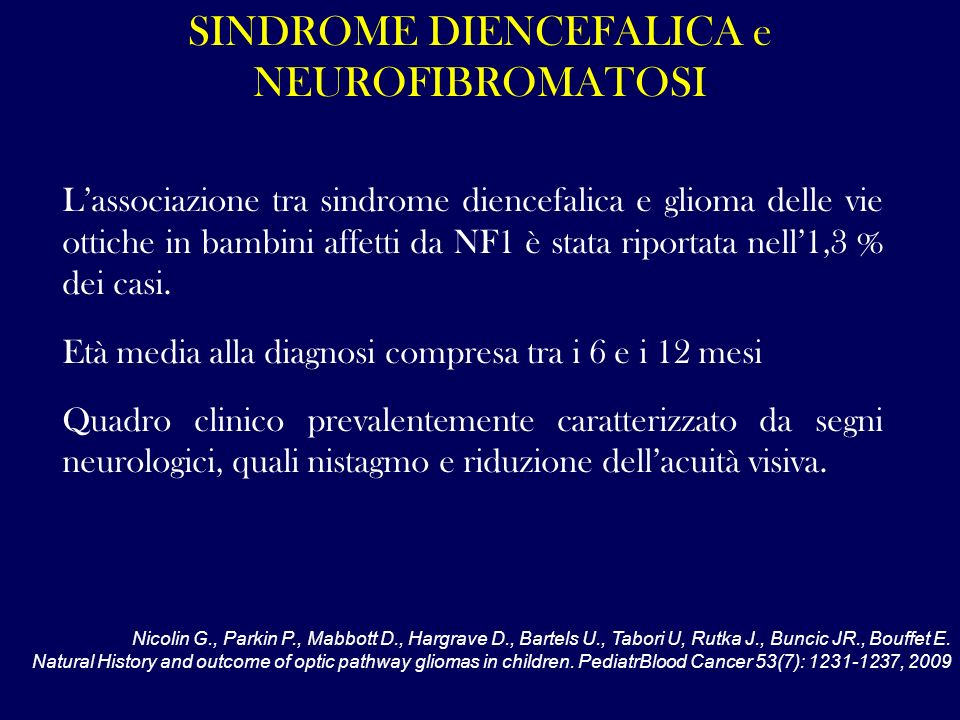SINDROME DIENCEFALICA e NEUROFIBROMATOSI