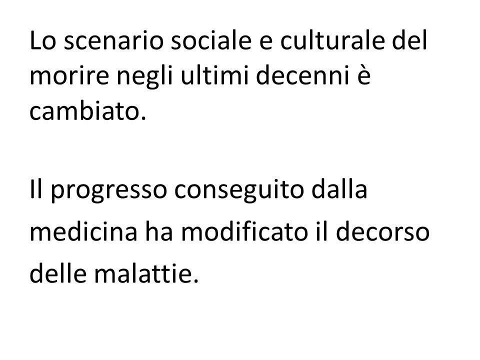 Lo scenario sociale e culturale del morire negli ultimi decenni è cambiato.