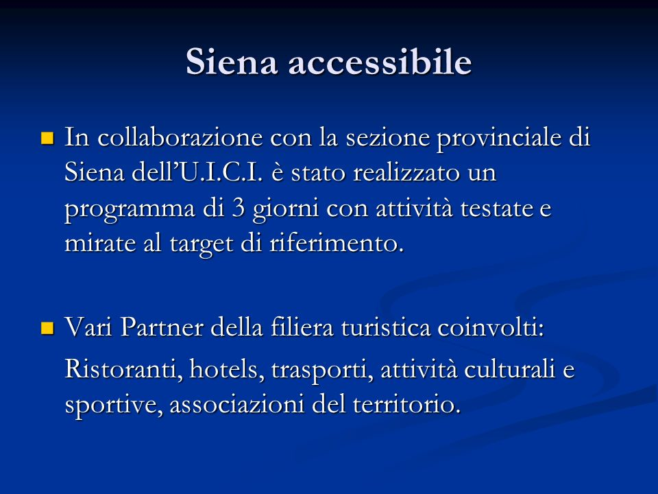 Siena accessibile