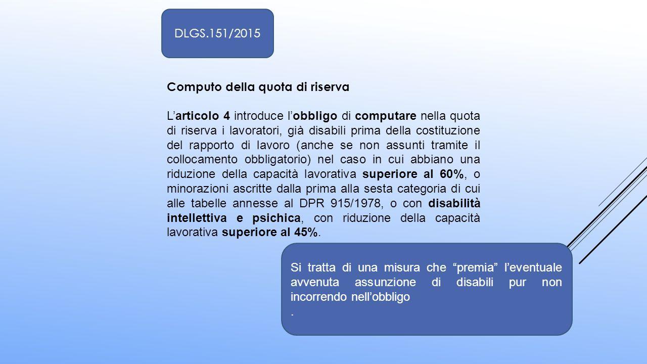 DLGS.151/2015 Computo della quota di riserva.