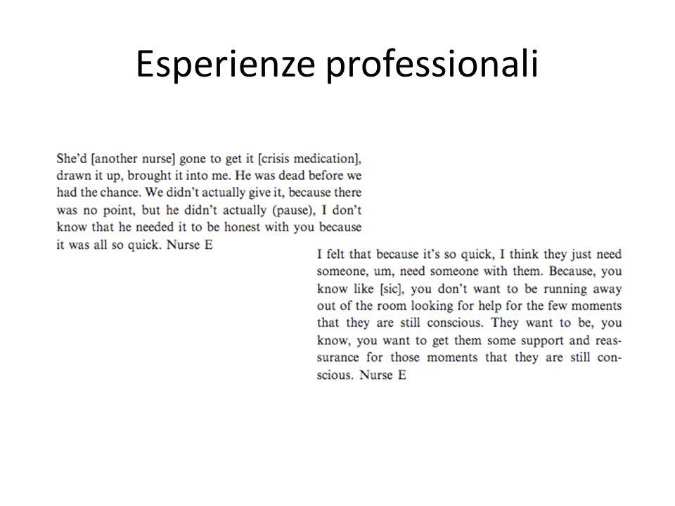 Esperienze professionali