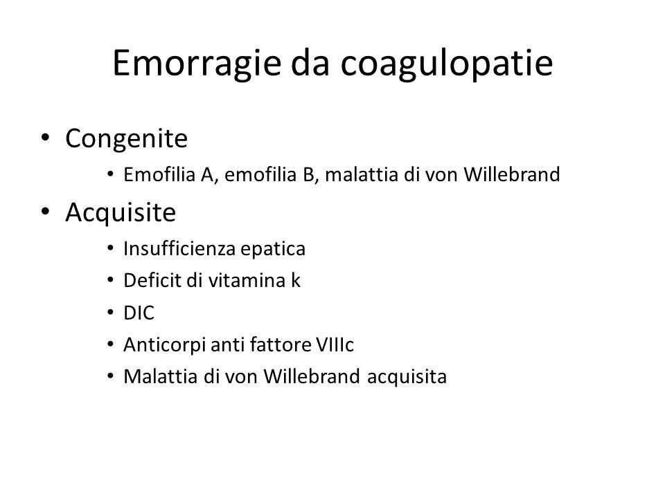 Emorragie da coagulopatie