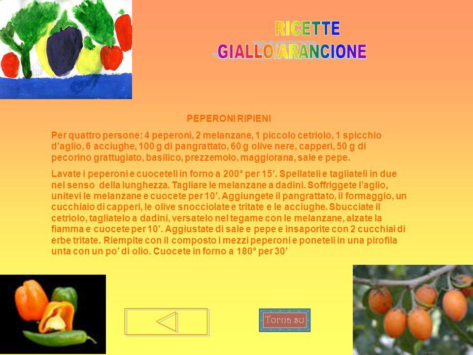 RICETTE GIALLO/ARANCIONE PEPERONI RIPIENI