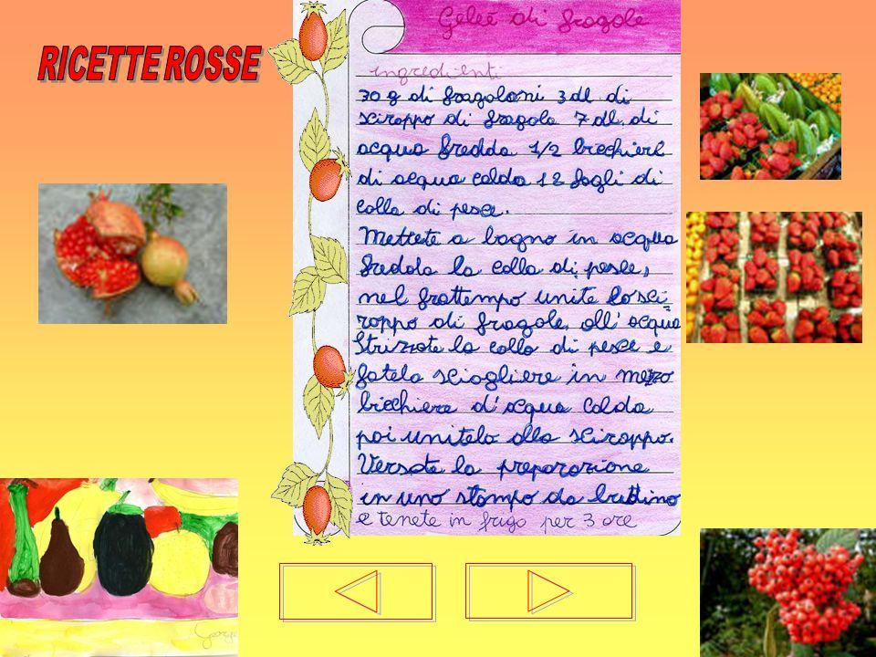 RICETTE ROSSE