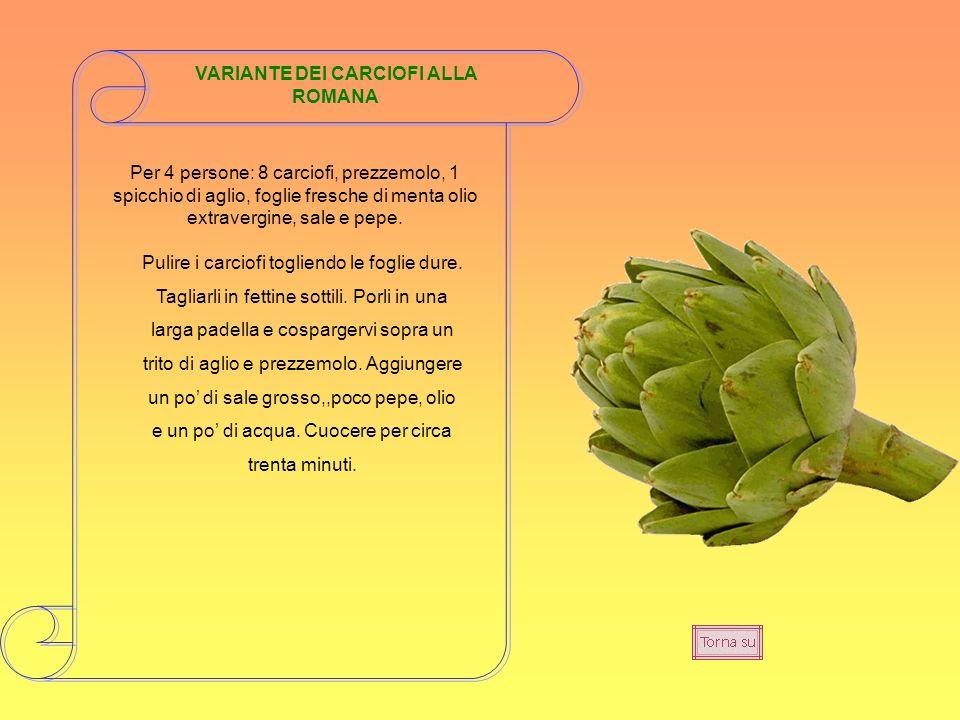 VARIANTE DEI CARCIOFI ALLA ROMANA