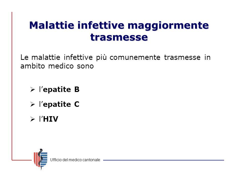 Malattie infettive maggiormente trasmesse