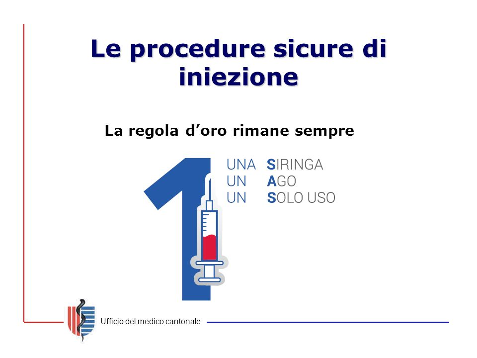 Le procedure sicure di iniezione