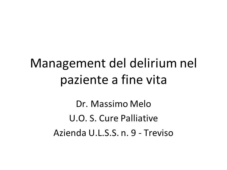 Management del delirium nel paziente a fine vita