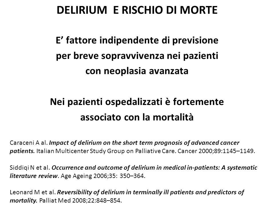 DELIRIUM E RISCHIO DI MORTE