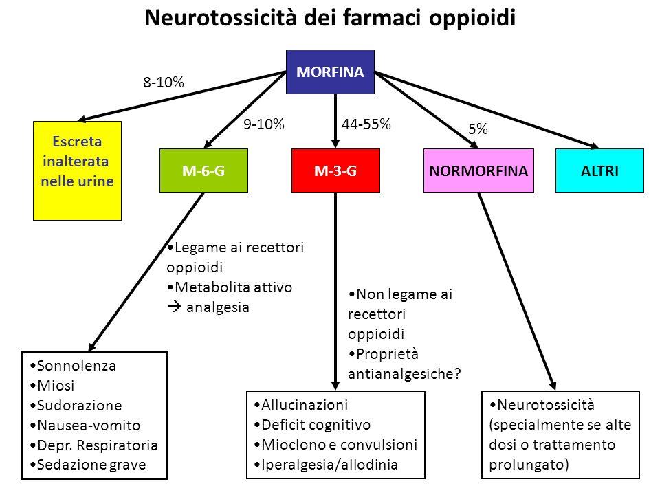 Neurotossicità dei farmaci oppioidi
