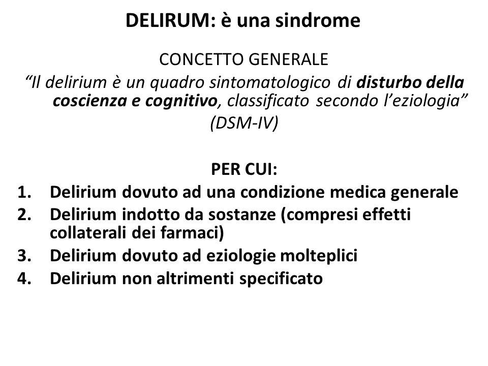 DELIRUM: è una sindrome
