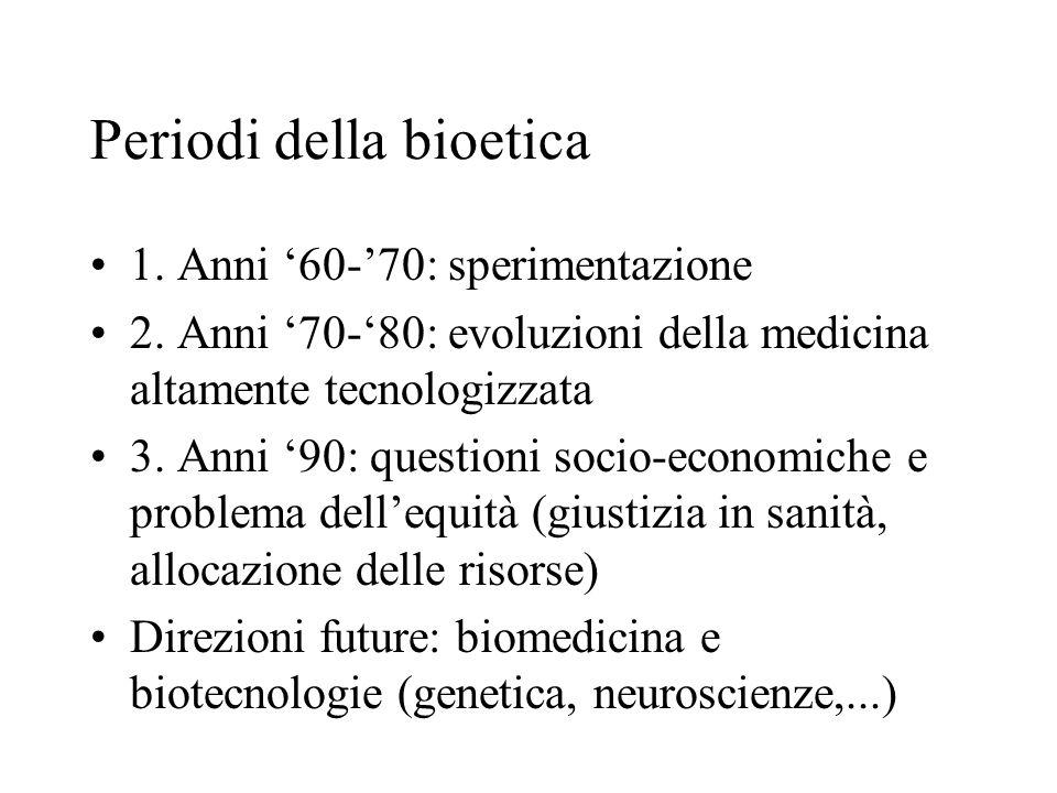 Periodi della bioetica