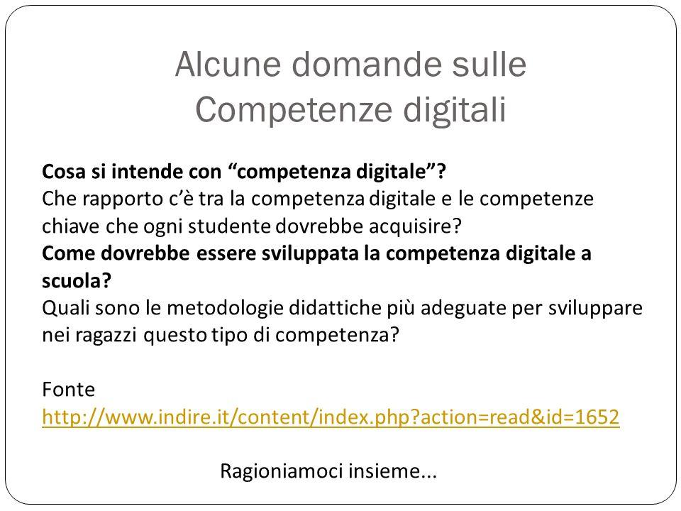 Alcune domande sulle Competenze digitali