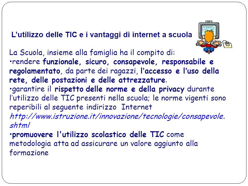 L'utilizzo delle TIC e i vantaggi di internet a scuola