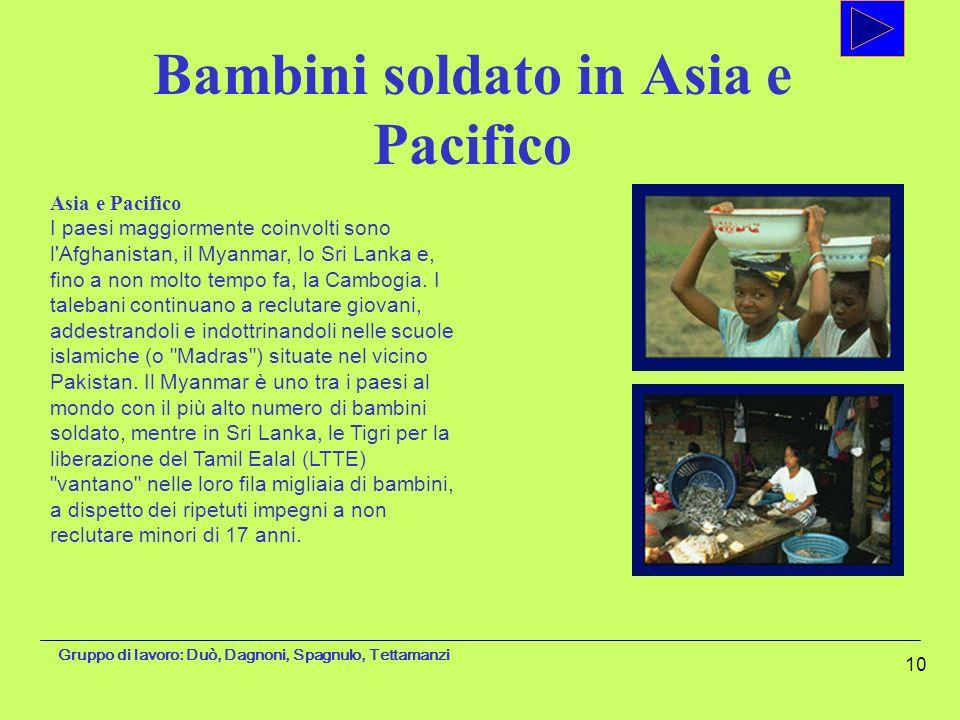 Bambini soldato in Asia e Pacifico