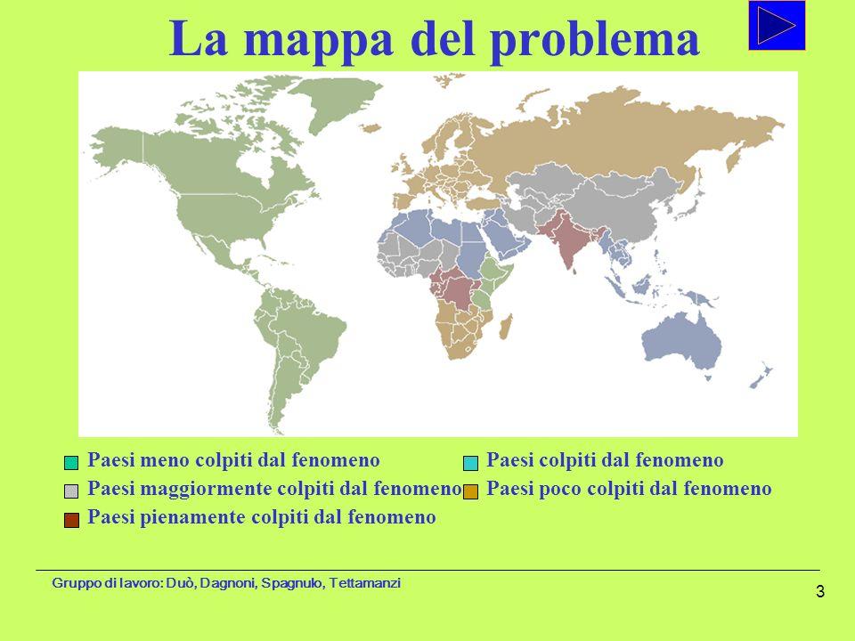 La mappa del problema Paesi meno colpiti dal fenomeno