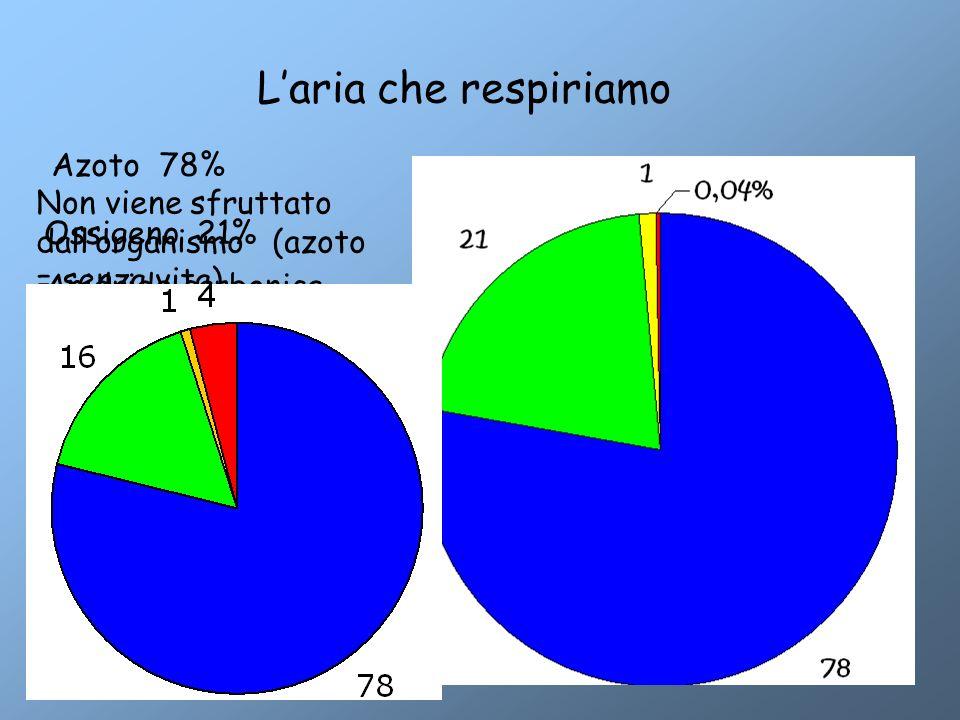 L'aria che respiriamo Azoto 78%