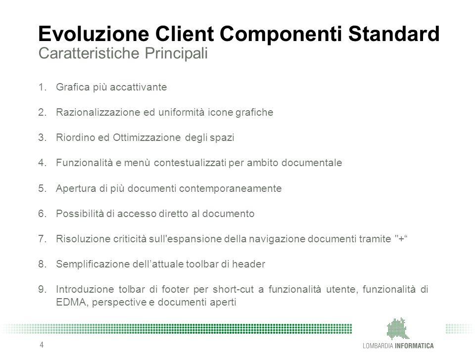 Evoluzione Client Componenti Standard