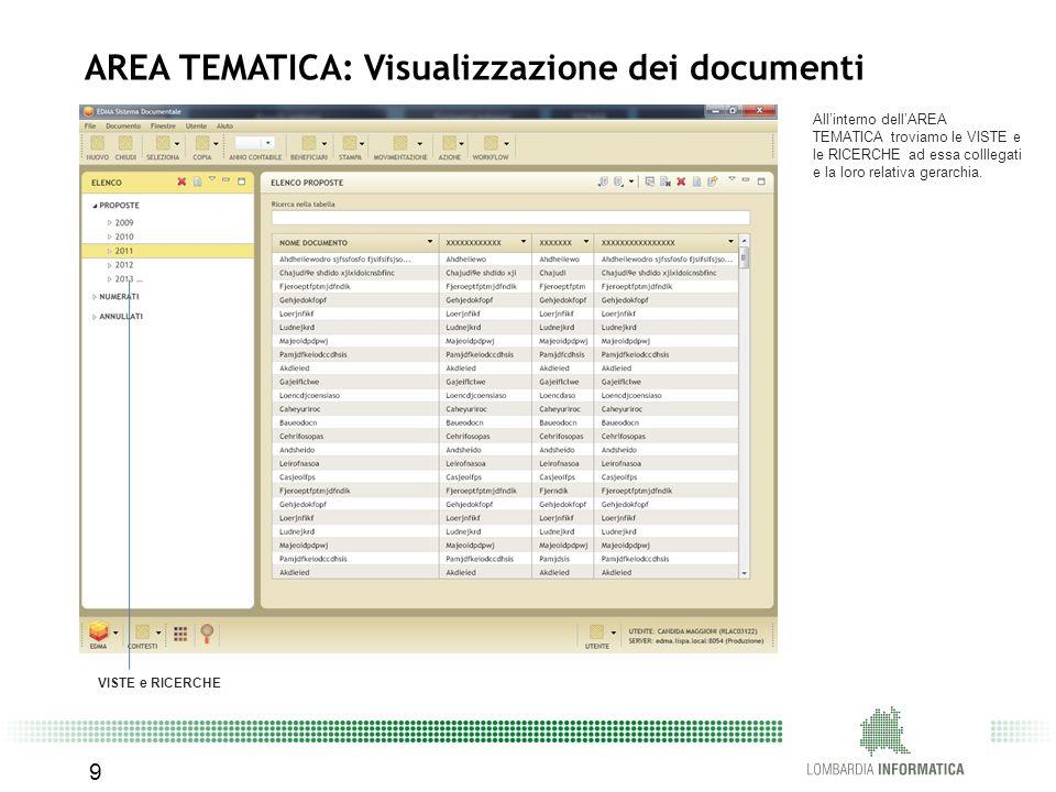 AREA TEMATICA: Visualizzazione dei documenti