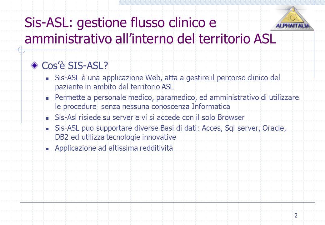 Sis-ASL: gestione flusso clinico e amministrativo all'interno del territorio ASL