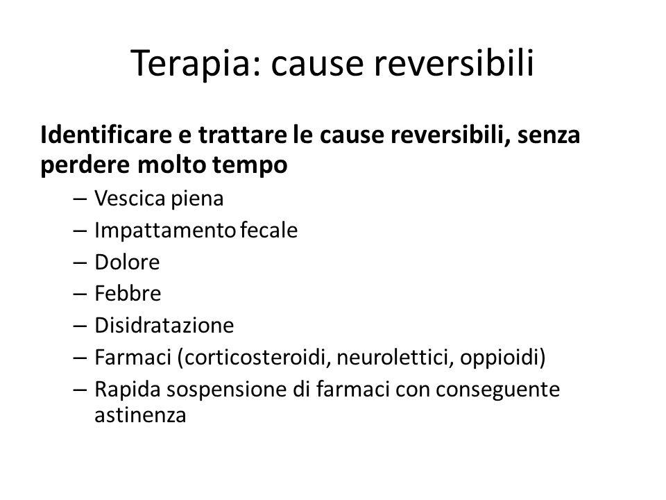 Terapia: cause reversibili