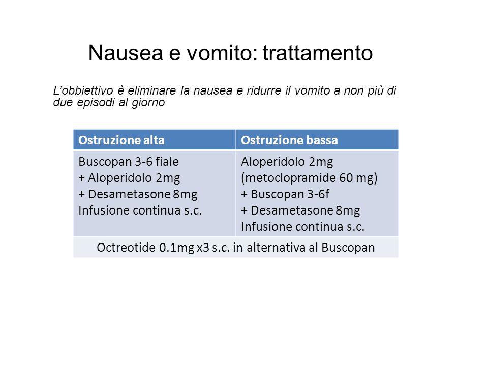 Nausea e vomito: trattamento